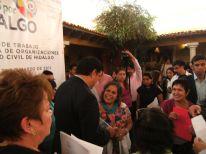 2a reunión de trabajo de la Red Unida de Organizaciones de la Sociedad Civil de Hidalgo, A.C., con el Lic. Francisco Olvera, gobernador de Hidalgo.